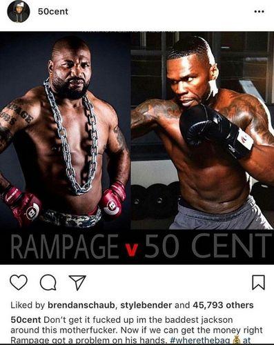 50 Cent хочет выступить в мма. это правда?