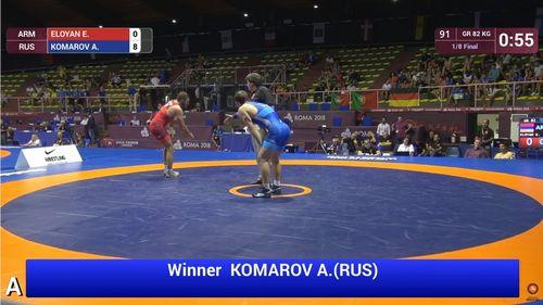 Александр комаров - топовый российский юниор! чемпионат европы по греко-римской борьбе