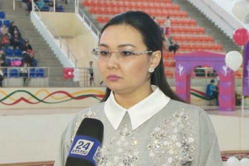 Чемпионат республики среди молодежи по художественной гимнастике проходит в шымкенте