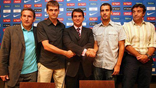 Гвардиола стал тренером в 4-м дивизионе испании. ему много помогал кройфф