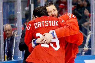 Илья ковальчук и павел дацюк стали олимпийскими чемпионами по хоккею