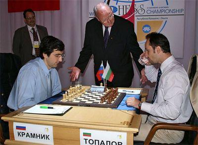 Крамник не пришел на пятую партию матча с веселином топаловым