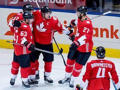 Сборная канады в полуфинале кубка мира — кросби, бэбкок, россия