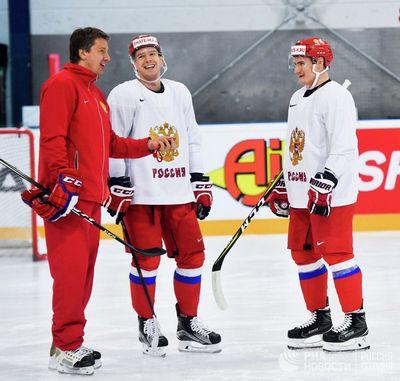 Сборная россии провела тренировку перед матчем со швецией на чм-2017