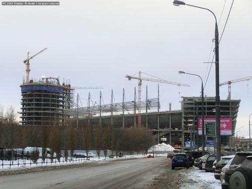 Строительство стадиона пфк цска. 27.12.2014