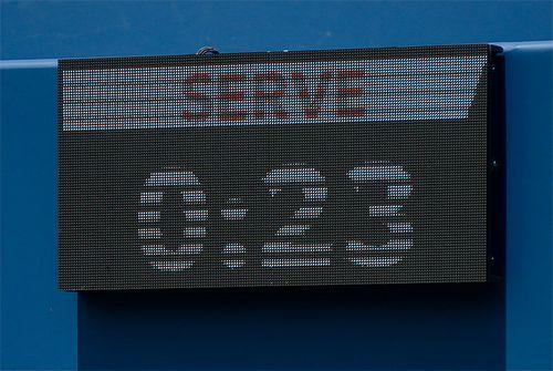Теннис пытаются ускорить таймером на корте. получается не очень