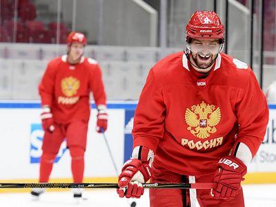 Тренировка сборной россии перед матчем с финляндией на кубке мира