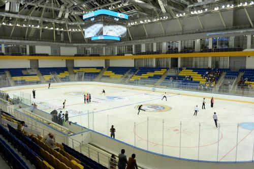 В алматы презентовали каток ледовой арены на 3000 мест
