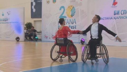 В астане проходит чемпионат казахстана по спортивным танцам на колясках