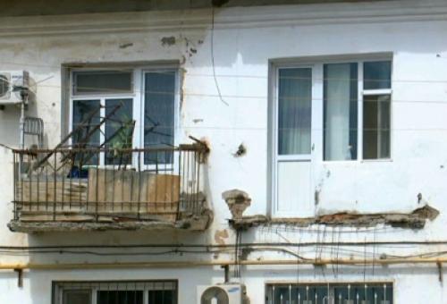 В одном из домов кызылорды при обрушении балкона пострадала женщина