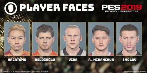 В pes 19 добавили лица российских игроков. их не отличить от реальных